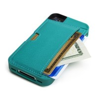 CM4 Q4-GREEN Q Card Case Wallet for Apple iPhone 4/4S - 1 Pack - Retail Packaging - Pacific Green:Amazon:Cell Phones & Accessories