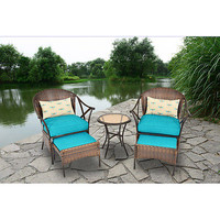 5-Piece Skylar Glen Outdoor Leisure Set, Blue, Seats 2 Outdoor Living Pool New