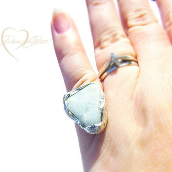 Amazonite Rings - Raw Amazonite Rings - Gemstone Ring Gifts - Unique Rings - One of a Kind Rings - Boho Gemstone Rings - Boho Ring Gifts