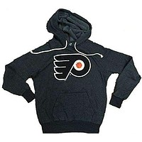 Majestic Threads Philadelphia Flyers Tri Blend Pullover Hoodie