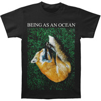Being As An Ocean Men's  Sleeping Fox T-shirt Black Rockabilia