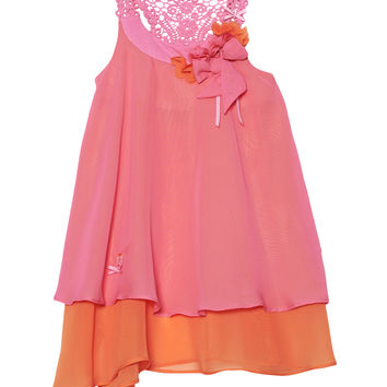 Miss Butterfly Chiffon Dress