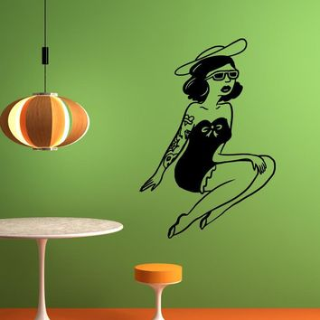 Vinyl Wall Decal Sticker Tattooed Pinup #OS_MB569