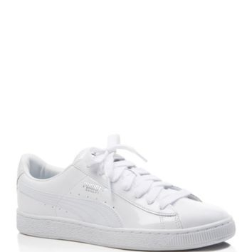 PUMA Women's Basket Matte and Shine Lace Up Sneakers   Bloomingdales's