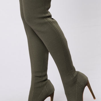 Sorry Not Sorry Boot - Olive