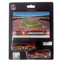 Ford Mustang And Dodge Charger 1:64 Scale Diecast Cars - San Francisco 49Ers