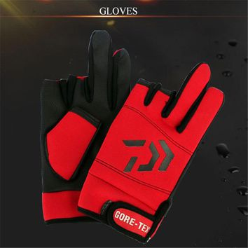 Thickened Three Finger Cut Anti-slip Fishing Gloves Fitness Man Outdoor Sports Gym Non-slip Glove For Fishing Riding Dumbbell