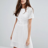 Warehouse Lace Skater Dress at asos.com
