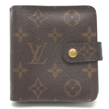 Auth Louis Vuitton Monogram Canvas Compact Bifold Wallet M61667 (DH46429)