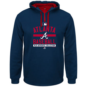 Atlanta Braves 2015 On-Field Team Property Colorblock Hooded Fleece by Majestic Athletic - MLB.com Shop