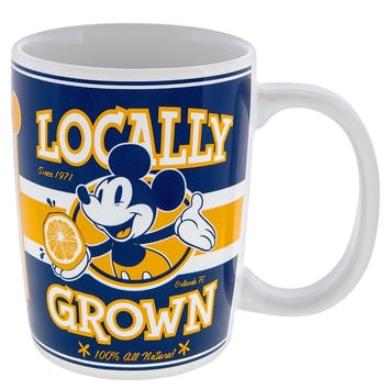 Disney Parks Mickey Locally Grown 100% All Natural Ceramic Coffee Mug New