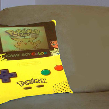 Yellow Pokemon Gameboy - Pillow Case, Pillow Cover, Custom Pillow Case **