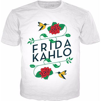 Frida Kahlo Birds & Roses Classic White T-Shirt