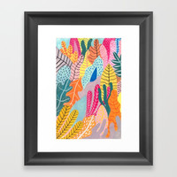 Candy Jungle Framed Art Print by Iisa Mönttinen