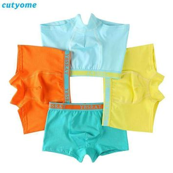 1pc Boys Solid Color Soft Cotton Underwear Boxers