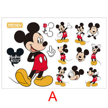 Mickey Minnie mouse Wall decals kids gift bedroom decorative stickers diy cartoon mural art pvc nursery posters SM6