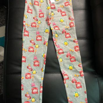 Gap Disney Little Mermaid Ariel Flounder Sebastian Emoji Leggings Girls Size:12