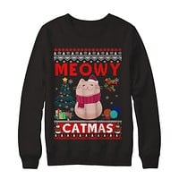 Meowy Catmas Ugly Sweater Cat Christmas