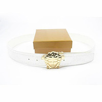 VERSACE Woman Men Fashion Smooth Buckle Belt Leather Belt-38