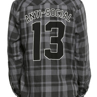 RUDE Anti-Social 13 Plaid Woven