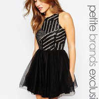 John Zack Petite Sequin Prom Dress