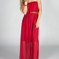 FULL TILT Belted Maxi Tube Dress 214612320 | Maxi Dresses | Tillys.com
