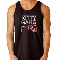 Hello Kitty Gang For Mens Tank Top Fast Shipping For USA special christmas ***