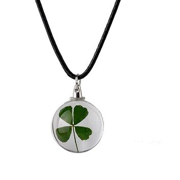Dried Flowers Pendant Necklaces For Women