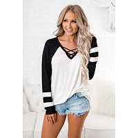 Striking Out Jersey Top (Ivory)