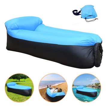 lazy Beach bed Air Sofa Lounge Camping of sleeping  air lounger inflatable Bed Lazy Sleeping Bag