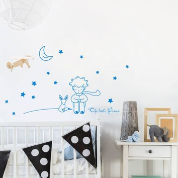 The Little Prince Wall Sticker DIY Stars Vinyl Mural Decal for Kids Baby Room Decor