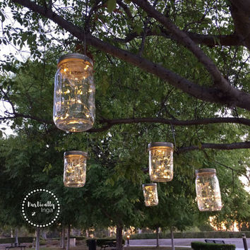 Fairy Light (Hanging) | Mason Jar Light | Firefly Light | Wedding Light | Outdoor Lighting | Rustic Lighting | String Lighting