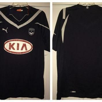 Sale!! Vintage Puma GIRONDINS DE BORDEAUX 1881 Soccer Jersey France Football Shirt
