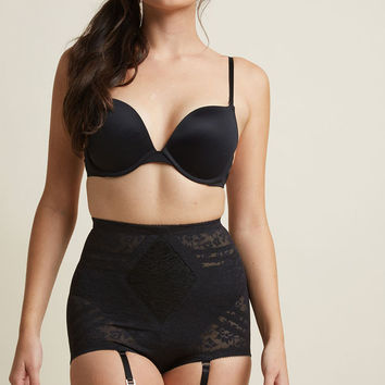 Elegant Underpinnings Contouring Panties in Black