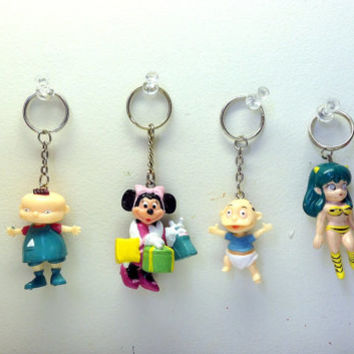 90s Cartoon Character Keychains