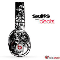 Abstract Black & White Swirls Skin For The Beats by Dre Studio, Solo, Pro, Mix-R or Wireless