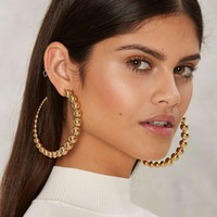 Ballsy Hoop Earrings