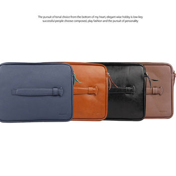 Holder  D-park Creative Wool-felt And Leather Bag/Pouch For iPad