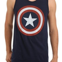 Marvel Universe Captain America Shield Tank Top 2XL Size : XX-Large