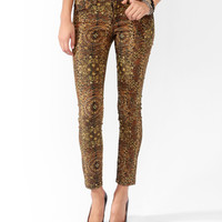 Animal Scarf Print Skinnies