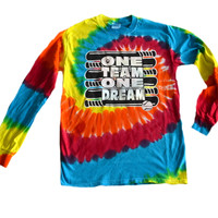 "Softball Tie Dye Long Sleeve T-Shirt ""One Team One Dream"" Logo"