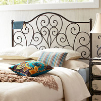 Scroll Headboards - Black