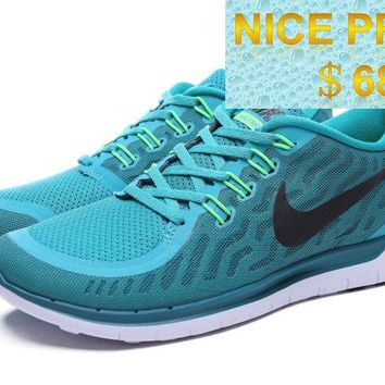 Purchase Nike Free 50 2015 Sport Turquoise Black White Aqua Blue shoes