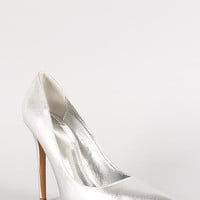 Shoe Republic Metallic Pointy Toe Stiletto Pump Size: 6, Color: Gold