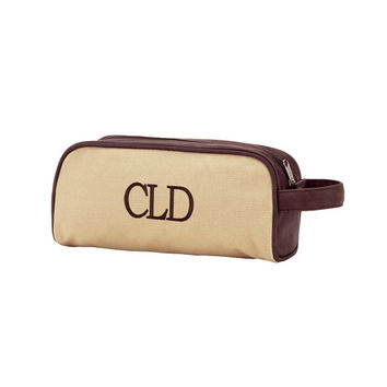 CUSTOM Monogram Dawson Toiletry Bag -- Great for Fraternity's and Men's Travel Bags!