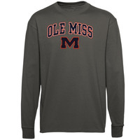 Mississippi Rebels Midsize Long Sleeve T-Shirt - Charcoal