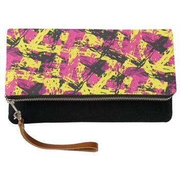 Modern Abstract Brushstrokes Pattern Clutch