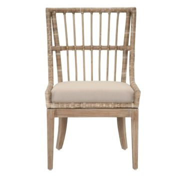 Playa Dining Chair (Set of 2) Stone Pole Rattan