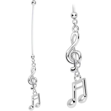 Handcrafted Passion for Music Pregnancy Belly Ring