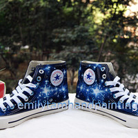 Galaxy Converse Sneakers, Custom Converes Galaxy, Christmas Gift, Birthday Gift